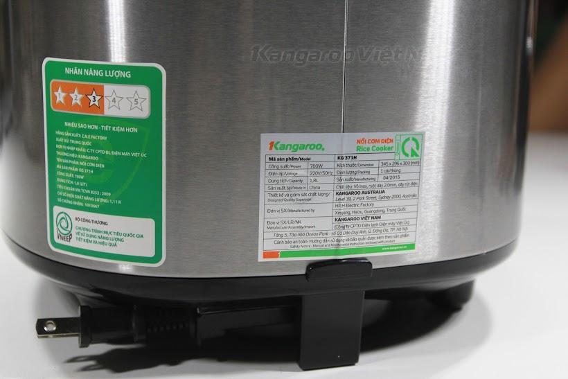 Nồi cơm điện Kangaroo KG371H