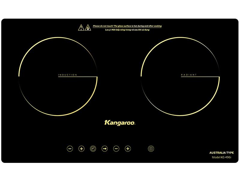 Bếp điện từ hồng ngoại đôi Kangaroo KG496i