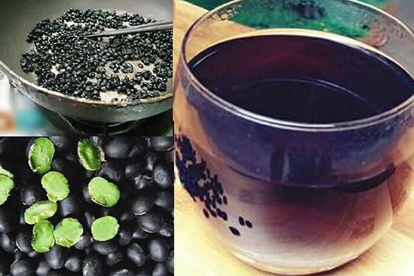 Đỗ đen rang hãm lấy nước uống có công thức đơn giản, dễ làm tại nhà