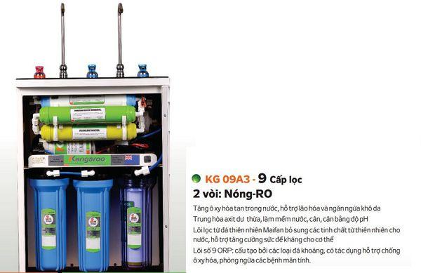 Máy lọc nước Kangaroo KG09A3 9 cấp lọc 2 vòi nóng lạnh