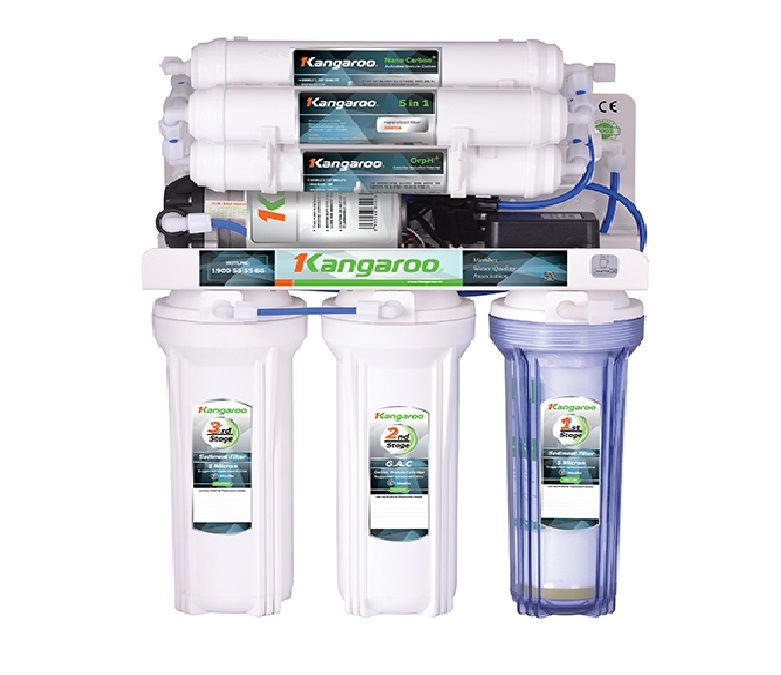 Máy lọc nước Hydrogen Kangaroo KG100HP KV - UV (Đèn UV diệt khuẩn không vỏ tủ )