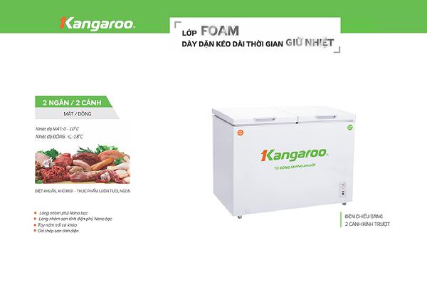 Tủ đông kháng khuẩn Kangaroo KG488C2